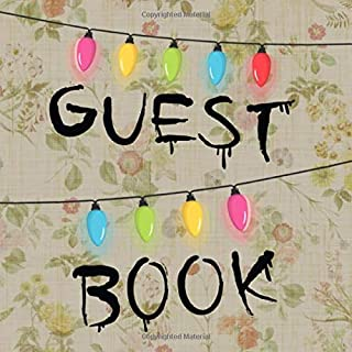 Guest Book: Christmas String Lights & Writing on Wal
