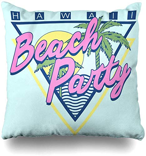 Fodere Per Cuscini Da Tiro Retro Sunset Vintage Tropical Graphic Estate Palm Beach Jersey Surf Party Hawaii Tree Leaf Home Decor Federa Per Divano