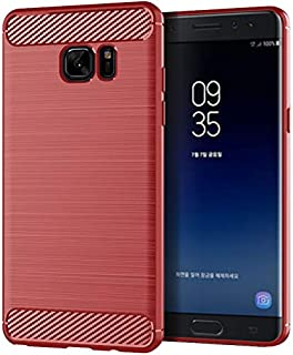 SKKMALL For Samsung Galaxy Note Fan Edition Mobile Shell For Samsung Note Fan Cover Silicone Soft Shell (Color : Red, Size...