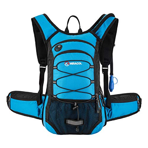 Miracol Hydration Backpack with 2L Water Bladder - Thermal Insulation Pack Keeps Liquid Cool up to 4 Hours - Multiple Storage Compartment- Best Outdoor Gear for Skiing, Running, Hiking, Cycling