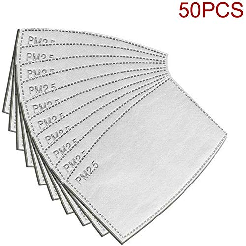 50pcs PM2.5 Activated Carbon Filter Replaceable Anti Haze Filter Paper covid 19 (masks for germ protection coronavirus)