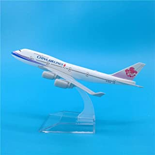 16Cmチャイナエアラインボーイング747メタルプレーンモデルデコレーションギフトチャイナエアラインB747フリーフライトモデル飛行機お土産おもちゃ