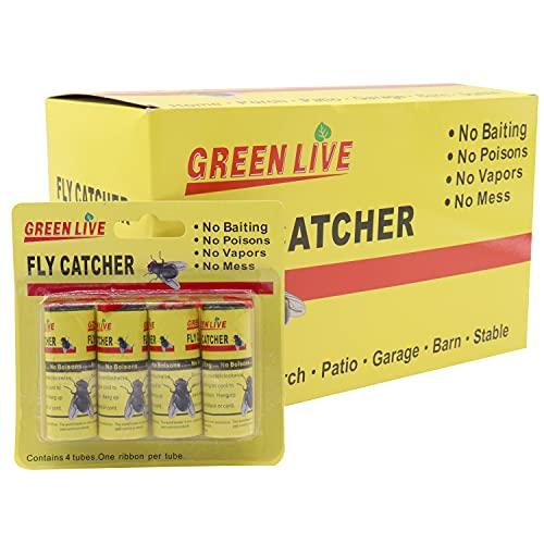 Panngu - 16 Stück -Fliegenfänger - umweltfreundlich - Fliegenfalle für Fliegen, Bestklebensten fliegenfänger Gelbsticker gegen Fliegen/Motten/Fruchtfliegen und Mücken. (Gelb)