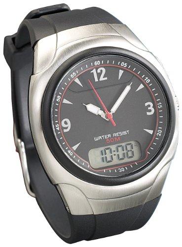 St. Leonhard Funk Armbanduhren: Funkarmbanduhr RC-1240.Duo mit digitaler & analoger Anzeige (Funkuhren Herren)