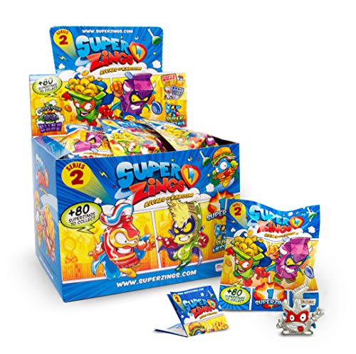 Súperzings- Onepack Serie 2 Caja con 50 Figuras, Multicolor (Magic Box INT. Toys MBXPSZ2D850IN00)