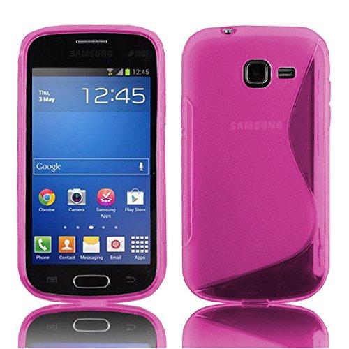 HCN PHONE - Cover morbida per Samsung Galaxy Trend Lite S7390 S-Line TPU Gel Silicone per Samsung Galaxy Trend Lite S7390, colore: Rosa