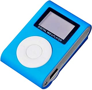 Mirror Portable MP3 Player Mini Clip Waterproof Sport Music Player (Blue)