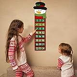 PATAZOK Calendario de Adviento de Navidad 2020 1pcs Calendario de Muñeco de Nieve Colgante/Calendario de Cuenta Regresiva de Navidad/Decoraciones/Festivos/Oficina/Hogar/Artesanía DIY/Niños/Adultos