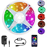 LED Strip Lights,RGB LED Lights Strip 16.4ft SMD 2835 LED Tape Lights Flexible Color Changing LED Lights with APP Control for Bedroom, Kitchen, DIY Home Decoration