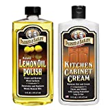 Parker & Bailey Lemon Oil Polish Bundled with Kitchen Cabinet Cream- Furniture Polish Oil and Wood Cleaner Combo