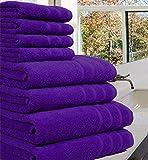 Toalla de lujo 100% de algodón egipcio, 8 piezas de 550 g/m² cada una en...
