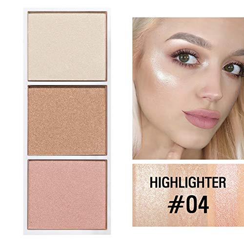 Bobora Luminous Blush Puder-Palette Feines Pulver Aufhellen Make-up-Effekte Langlebiger Shiny...