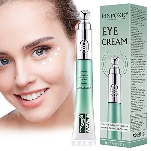 Augencreme, Antialterung Augencreme, Augenringe Creme, Augencreme Falten, Anti Aging Augenfaltencreme mit Elektrischer Massagekopf,Krähenfüße und Augenfalten