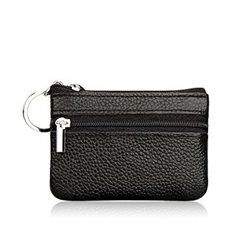 Demarkt Mini Geldbeutel Täschchen Schlüsseletui Coin Purse Keys Aufbewahrungs Tasche Storage Bag Schlüssel Taschen (Schwarz)