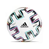 adidas Men's UNIFO TRN SAL Soccer Ball, White/Black/Signal Green/Bright Cyan, FUTS