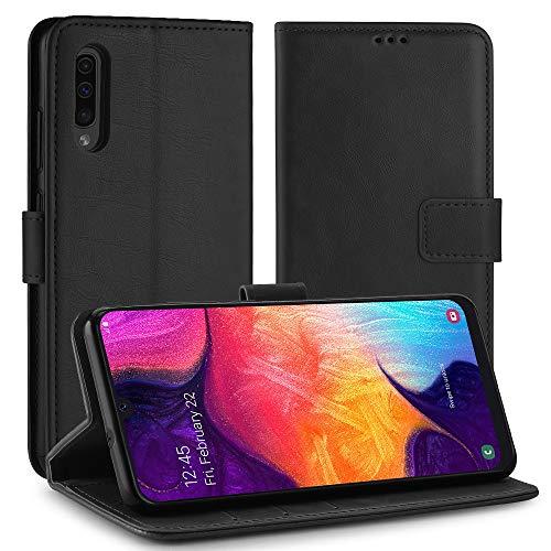 Simpeak Custodia Compatibile per Samsung Galaxy A50 A50S A30S, Cover Compatibile con Samsung A50 in Pelle Portafoglio con Supporto Flip Caso [Supporto Stand] [Chiusura Magnetica], Nero