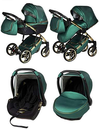 Saintbaby RetroCochecito de Bebé Trio Silla de Coche Grupo 0 Plus Isofix 3en1 2en1 4en1 Youkon GT British Racing Green 04 2in1 sin Silla de coche