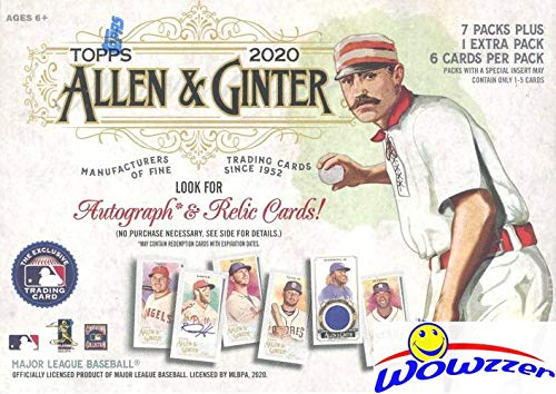 2020 Topps Allen & Ginter MLB Baseball EXCLUSIVE Factory Sealed Retail Box with 1 Mini Card Per Pack! Look for Autos of Mike Trout, Luis Roberts, Alex Morgan, Fernando Tatsi,Joe Burrow & More! WOWZZER