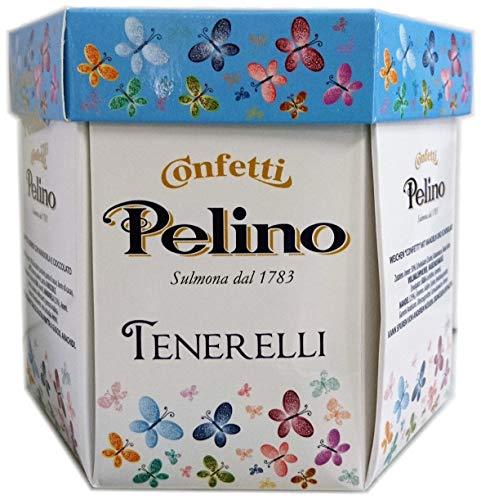 Confetti Pelino Monoporzionati in bustine singole, Ciocomandorla Celeste - 300 gr