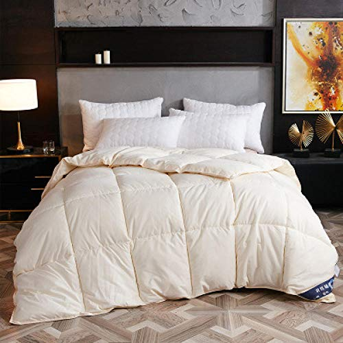 CHOU DAN king duvet Blanket Duvet For Winter/Summer Goose/Duck Down Quilts White Cotton Cover Thicken Comforters King Queen-200 x 230cm 3.0kg_Type 6