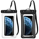 Floating Waterproof Case, CHOETECH (2Pack) Flotable Waterproof Cell Phone Pouch Dry Bag