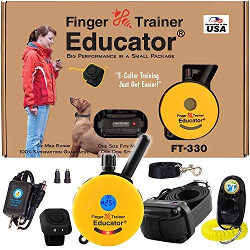 Educator E-Collar - FT-330 - Waterproof Remote Finger Trainer Micro 1/2 Mile Range - Static,...
