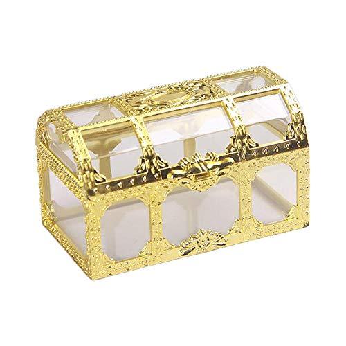 YHDNCG Caja de joyería,Cuadrado transparente ahueca hacia fuera la caja de joyería robusta,Caja de joyería portátil, organizador multifuncional de la joyería
