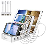 allcaca Charging Station 6 Ports for iPhone XS Max XR Ipad Tablet