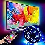 HCCX 2M LED Striscia di Luce, USB TV retroilluminazione Kit, IP66 impermeabile-5050 RGB Illuminazione polarizzata, Bluetooth App Intelligent Control, Adatto per 40-60 Pollici TV