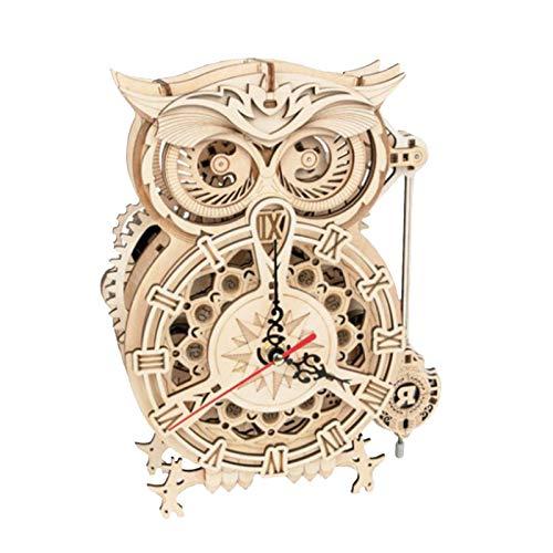 Reloj De Madera Del Búho Del Rompecabezas 3D, Reloj De Madera Del Búho 3D, Decoración Del Kit De Artesanía De Madera De Búho, Kits De Construcción De Maquetas Regalos Para Adolescentes Y Adultos