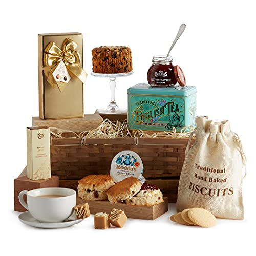 Luxury Cream Tea Hamper - Couples Afternoon Tea Hampers - Scones and Jam Gift, Birthday, Thank You & Special Occasions