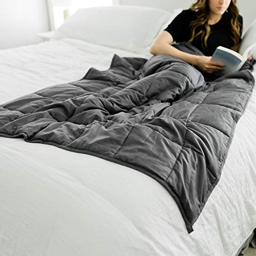 Weighted Blanket Heavy Blanket Weighted Blanket for Teens | 100% Cotton with Premium Glass Beads (40