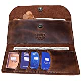 Hide & Drink, Leather Folio Wallet, Holds Up to 4 Cards Plus Flat Bills & Coins/Bifold/Min...