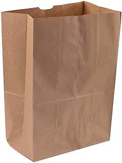 Royal 7 Heavy Duty 12 x 7 x 17 Kraft Brown Paper Barrel Sack Bag 57 Lbs Basis Weight (100)