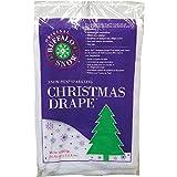 Buffalo Christmas Drape 36' X 60' White