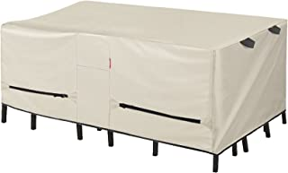 Porch Shield Patio Table Cover - Waterproof Outdoor Dining Table and Chairs Furniture Set Cover Rectangular - 75 x 43 inc...