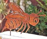 Dekostüberl Rostalgie Edelrost Biene mit Schraube 13 x 10 cm für Holz Insekt Gartendekoration