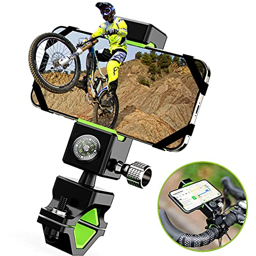 Guider Porta Cellulare bici - Supporto telefono da moto con attacco universale manubrio dotato di antifurto e rotazione a 360°, compatibile con tutti i Smartphone e iPhone da 4 a 7 pollici.