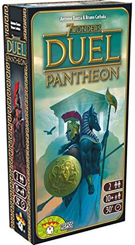 Asmodee, - 7 Wonders Duel: Pantheon, expansión Juego de Mesa, edición en Italiano, 8037