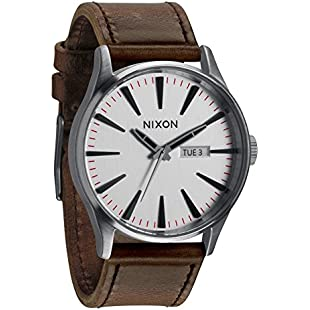 Nixon Men's Quartz Watch Sentry Leather A1051113-00 with Leather Strap