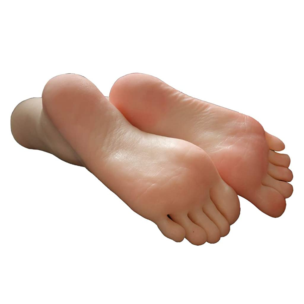 1 Pair Silicone Lifesize Girl Mannequin Foot Display Jewerly Sandal Shoe Sock Display Art Sketch with Nail