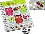 DONREGALOWEB - Set de 4 Cuadernos de 80 Hojas a5 con Anillas Decorados...