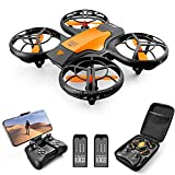 4DV8 RC Drone with 720P Camera for Adults kids,Hand Operated/ Remote Control Quadcopter Toys, 2.4G FPV Live Video, With 2 Battery, App Control,3D Flips,Waypoints Functions, Altitude Hold