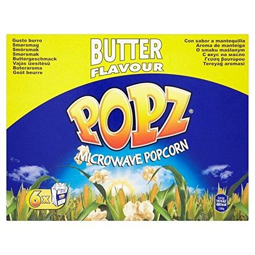 Popz Butter Mikrowellen-Popcorn 6 X 90 G