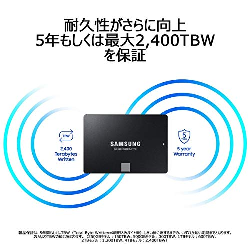 "Samsung860EVO500GBSATA2.5""内蔵SSDMZ-76E500B/EC国内正規保証品"
