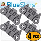[UPGRADED] Ultra Durable W10195416 Lower Dishwasher Wheel with STEEL Screws Replacement Part by Blue Stars -...
