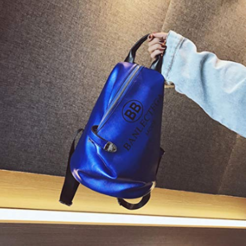 No-logo Backpack, Large Capacity, Beautiful and Practical, Can go Out or Carry in School (Color : D)
