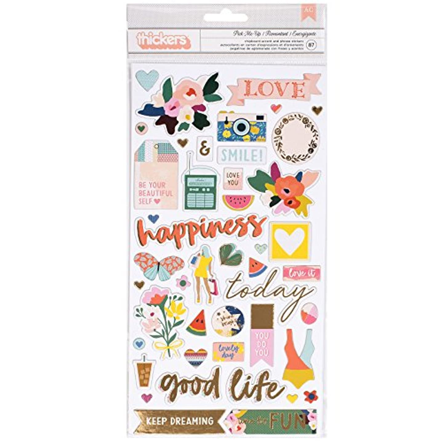 Paige Evans Pick 87 Piece Chipboard Icon Thicker