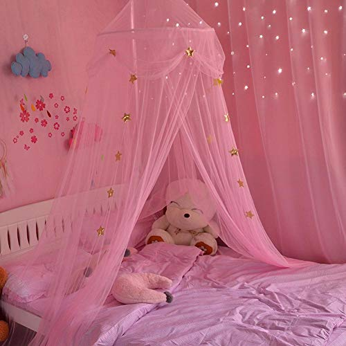 Moskitonetze Insektenschutz Babybett vorhang Baldachin Betthimmel Moskitonetz abweisend Insekten Kinder Prinzessin Zelte Schutz Dekoration Bettzubehör für Kinderzimmer oder 1.2m 1.5m 1.8m Kinderbett