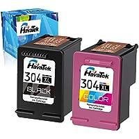 HavaTek Remanufactured 304XL - Cartuchos de tinta para HP 304 XL Multipack (compatible con HP DeskJet 2630 2620 3720 3720 3730 3732 3735 3750 3760 Envy 5020 5030 5032 5010), color negro